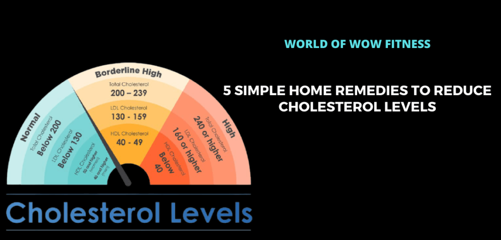 5 Simple Home Remedies to Reduce Cholesterol Levels